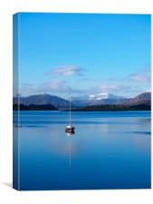 Tranquility on Loch Leven, Canvas Print