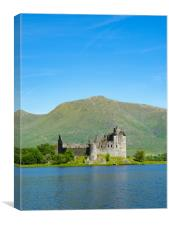 Kilchurn Castle from the banks of Loch Awe., Canvas Print