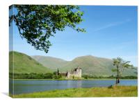 Loch Awe and Kilchurn Castle., Canvas Print