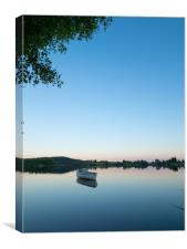 Loch Rusky at dusk., Canvas Print