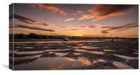 Northumbrian Sunset, Canvas Print