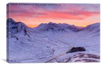 A82 light trails at dusk, Glencoe, Scotland, UK, Canvas Print