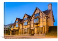 The Shakespeare Birthplace, Stratford-Upon-Avon, Canvas Print