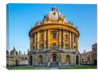 Radcliffe Camera in evening golden hour, Oxford, Canvas Print