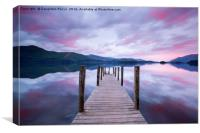 Ashness Jetty sunrise, Lake District, Canvas Print