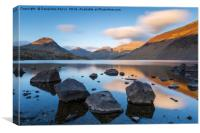 Last light at Wastwater, Lake District, England, Canvas Print