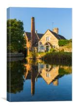 Lower Slaughter Old Mill, Cotswolds, Canvas Print