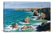 Bedruthan steps, Cornwall, Canvas Print