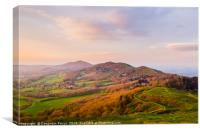 Malvern Hills at golden hour, Canvas Print