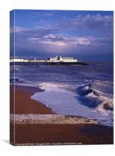 Heavy Seas and Hastings Pier, Canvas Print
