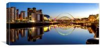 River Tyne and Quayside, Canvas Print