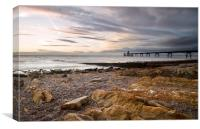 Fading light over Clevedon Pier, Canvas Print
