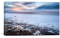 Sunset froth , Canvas Print