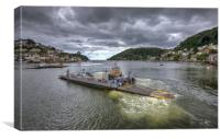 Dartmouth to Kingswear Ferry, Canvas Print