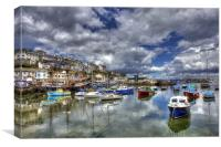 Brixham Inner Harbour, Canvas Print