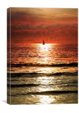 Sailing into a Sunset, Canvas Print