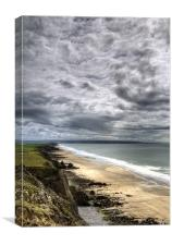 Looking Down on Sandymouth, Canvas Print