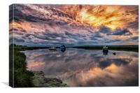 Penclawdd Sunset, Canvas Print
