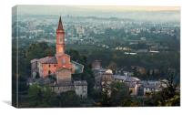 Church of Savignano Italy, Canvas Print
