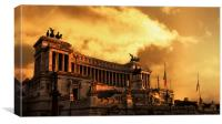 Victorian mansion at sunset, Rome, Canvas Print