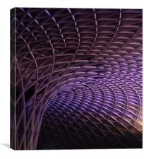 Kings Cross rail station, Canvas Print