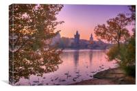 Prague Sunrise, Canvas Print