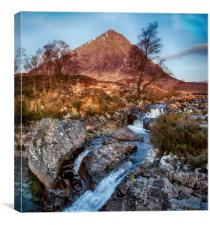 Etive Mor Waterfall, Canvas Print