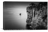 At the edge of the world, Canvas Print