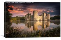 Bodiam Castle, Canvas Print