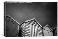 Stormy Beach Huts, Canvas Print