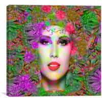Flowers in your Hair, Canvas Print