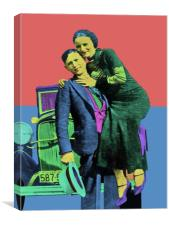 Bonnie and Clyde , Canvas Print