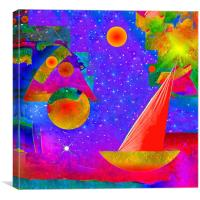Voyage to the Stars, Canvas Print
