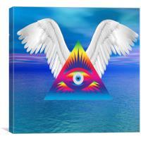 Third Eye with Wings, Canvas Print