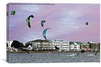 Kite Surfers at Poole Harbour, Canvas Print