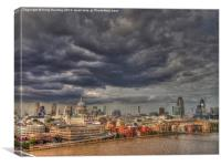 Storm Clouds over London, Canvas Print