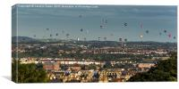 Balloons over Bristol, Canvas Print