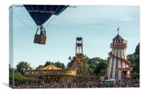 All the Fun of the Fair at the Bristol Balloon Fi, Canvas Print