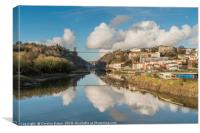 Clifton Suspension Bridge Reflected, Canvas Print