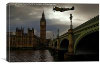 Spitfire over London, Canvas Print