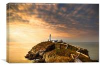 SouthStack Lighthouse Sunset, Canvas Print