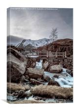 Icy Waters at Rhaeadr Idwal, Canvas Print