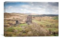 Dolwyddelan Castle a Countryside Vista, Canvas Print
