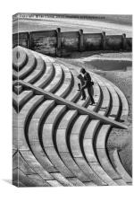 Blackpool Steps and curves, Canvas Print