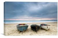 Boats at Durley Chine, Canvas Print