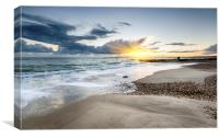 Solent Beach, Canvas Print