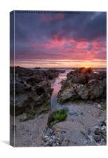 Sunset at Fistral, Canvas Print