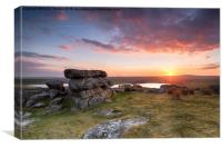 Sunset over Siblyback Lake, Canvas Print