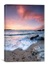 Sunset at Little Fistral Beach, Canvas Print