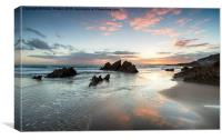 Sunset at Whitsand Bay, Canvas Print